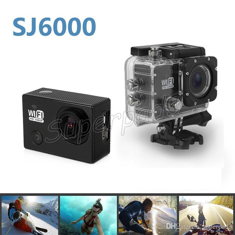 SJ6000 Cámara de deportes impermeable Grabadora de autos Deportes al aire libre DV 170 ° Lente HD 1080P Cámara de acción de buceo H.264 Wifi H.264 14