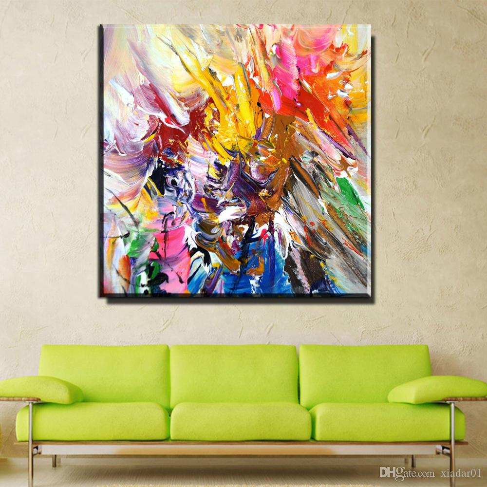 2019 zz1023 modern abstract canvas art color canvas oil art painting wall pictures for livingroom bedroom decoration unframed prints from xiadar01