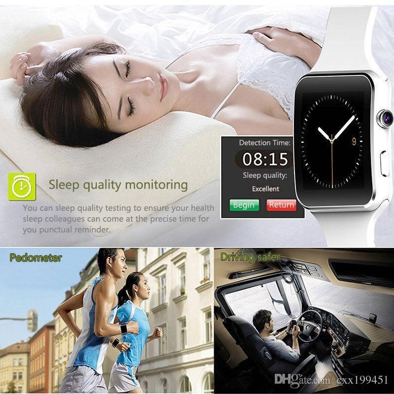 X6 Smartwatch reloj deportivo teléfono para todos los teléfonos inteligentes con cámara FM Soporte tarjeta SIM con la caja al por menor