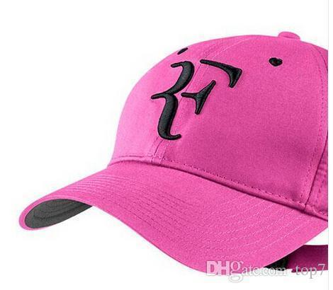 2017 Hot Baseball caps adjustable Black white newest men women Roger Federer RF Hybrid tennis racket hat tennis racquet