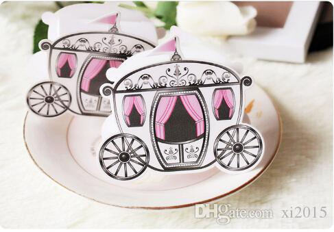 Cinderella Enchanted Carriage Marriage Box Wedding Favor Gift boxes Candy box