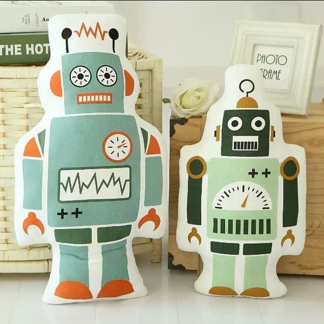 New Cartoon Soft Plush Toys Bear Robot Pillow Baby Gift Decorative