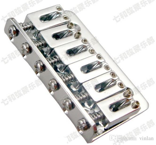 Freies verschiffen e-gitarre 6 Saiten Sattel Hardtail Bridge 65mm gitarre teile Musikinstrument zubehör
