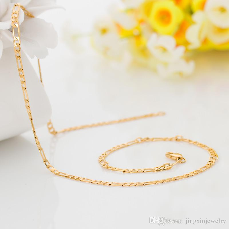 The classic gold shop gold-plated 18k gold filled with money gold necklace Valentine wedding gift lovers