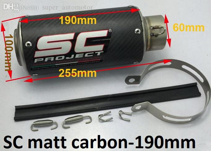 Nouveau SC GP Vélo De Route Fit Pour R6R1R3 M4 En Acier Inoxydable Silencieux D'échappement Diamètre Intérieur 60mm