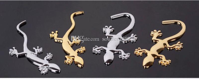 Мода металл чистый декоративный стиль прохладный 3D эмблема ящерица стикер металла геккон наклейки 10 шт. пакет Бесплатная доставка