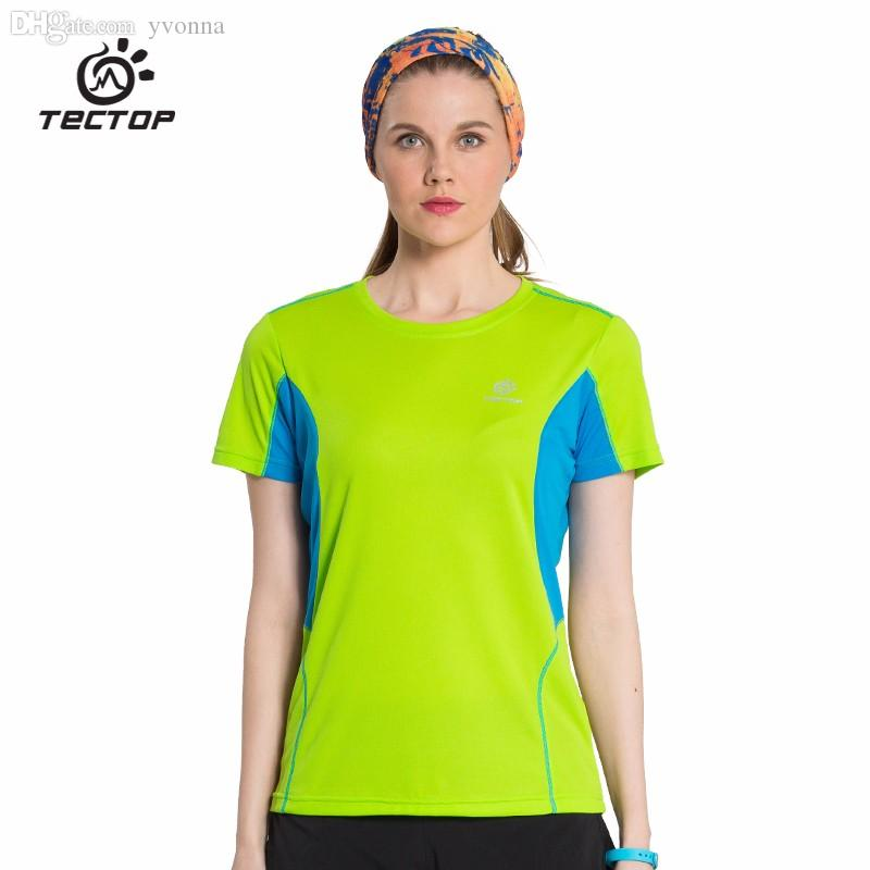 Wrench Tectop Outdoor Men Women Solid Color Round Neck Short Sleeve T-shirt Breathable Quick-drying Thin Elasticity Running T-shirt