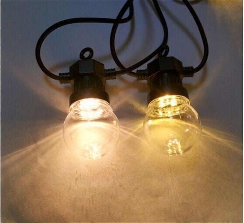 10 M Küre Dize Işık ile 20 Sil / Sütlü Ampuller Bağlanabilir Vintage Festoon Küre Topu Dize Işık Parti Noel Peri Işık Dekor Işık
