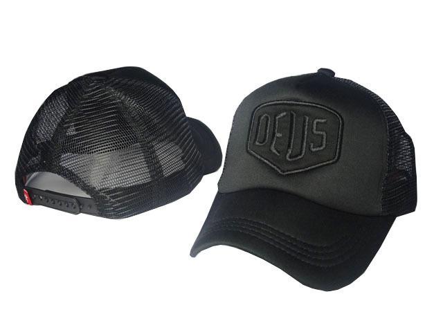 Top Cotton Summer All Black Deus Hats For Men Cool Brand Designer Hip Hop  Mesh Trucker Baseball Cap Women Golf Hat Sports Casquette DDMY Mens Caps La  Cap ... 56fec9c11