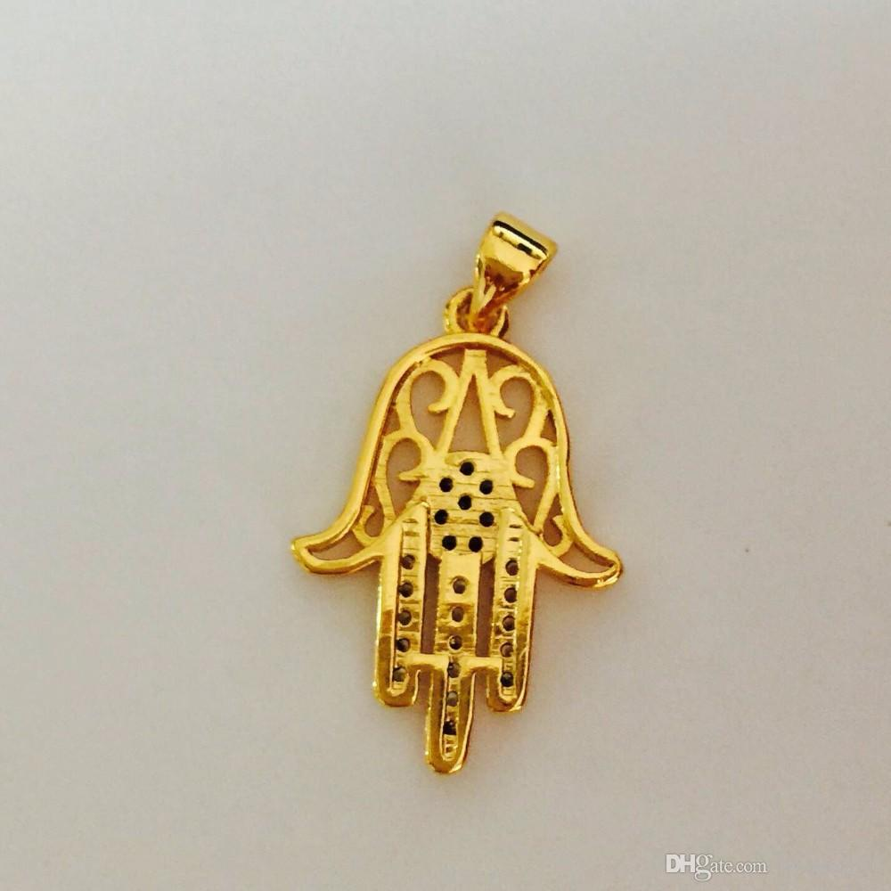 Hexagram & Hamsa Hand Pendant Necklace Women,Magen David Necklace Gold/Silver Plated Jewelry Islam Arab,Jewish Star,Palm Shaped