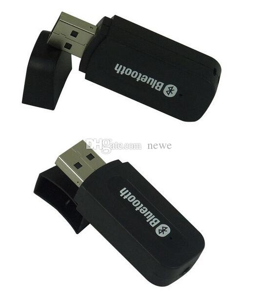 Nuovo arrivo 3.5mm Jack USB senza fili Bluetooth Music Receiver Dongle adattatore per Aux Car PC per IOS / telefono Android
