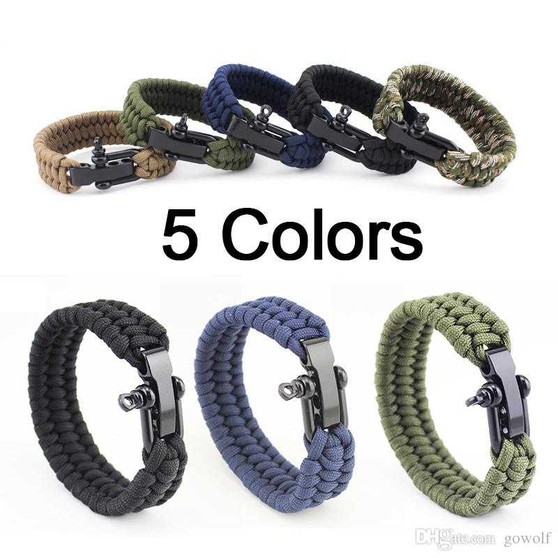 Wholesale Handmade Outdoor Camping Rescue Paracord Bracelets