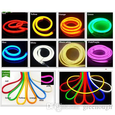 AC110 AC220V SMD2835 LED Neon Flex Strip Light 6W/M LED Neon Light 120LEDS LED Rope Lights Neon Beer Signs 50m/roll 200m
