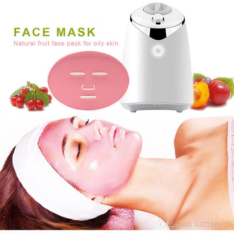 FM001 Máscara Facial Fruit Machine Automatic Máscara Facial Cabelo DIY Natural Máscara Vegetal Com Collagen Pill Inglês Voz Cuidados com a pele