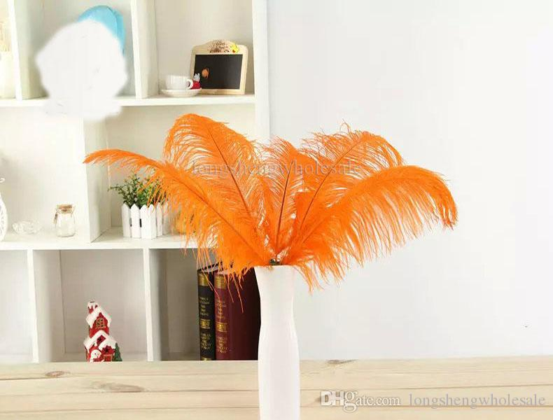 13colours DIY Ostrich Feathers Plume Centerpiece for Wedding Party Table Decoration Wedding Decorations 2015 hot selling 20-25CM