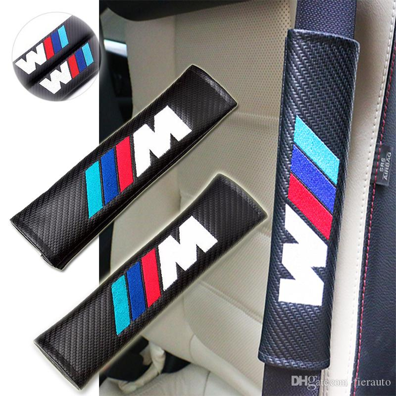 Carbon Fiber Car Styling Seat Belt Cover Case Shoulder Pad For BMW E46 E39 E90 E60 F30 F10 F20 E36 X5 E53 X3 E34 E30 Car-Styling