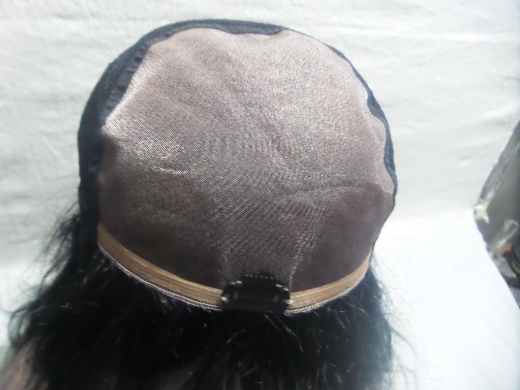 FULL LACE WIGS droites degrés dans le front de l'original lisse sans colle cheveux humains 100% Brésil noir femmes tissage perruque pleine dentelle perruques