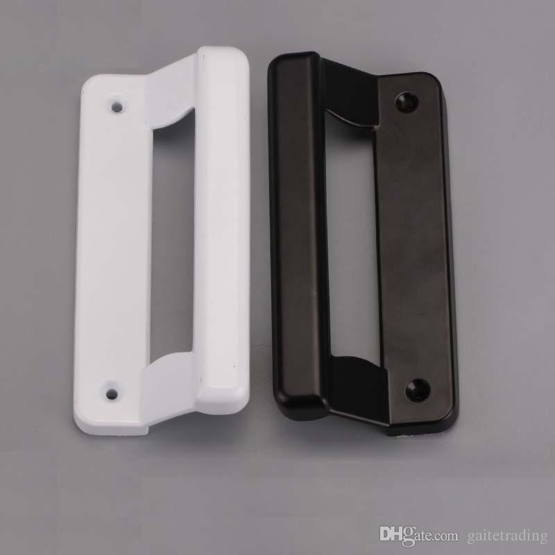 bouton blanc et noir en plastique en acier porte coulissante poignée en alliage d'aluminium porte fenêtre traction