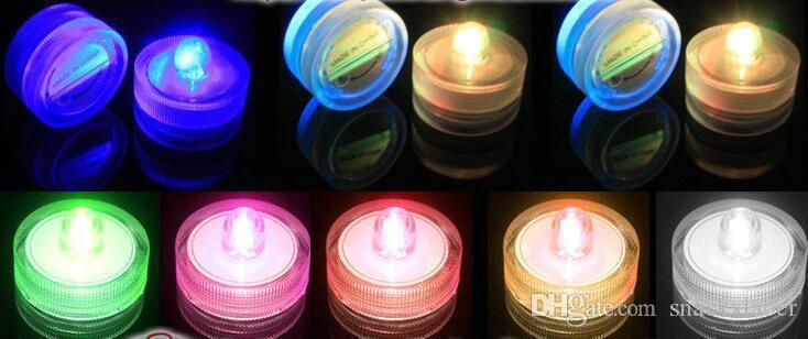 Luz de vela CONDUZIU as Luzes Submersíveis bateria power Decoration Vela Festa de Casamento Decoração de natal luz À Prova D 'Água
