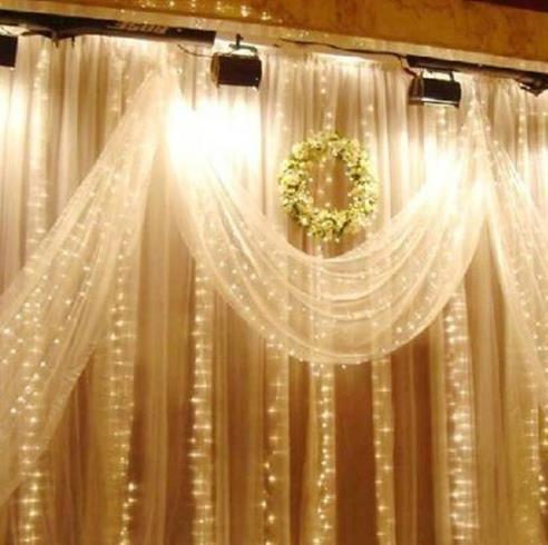 10m 100 lampadine a LED String Lights lampada Wedding Home Garden Natale Bar Lampade Decorazione Stringhe LED festa festa vacanza luci puntelli
