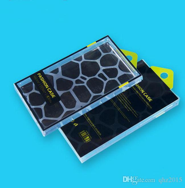 PVC Universal Retail Plastic Transparent Packaging Crystal Box For Cell phone Leather Wallet Case For Samsung S5 S6 Edge iPhone 5S 6