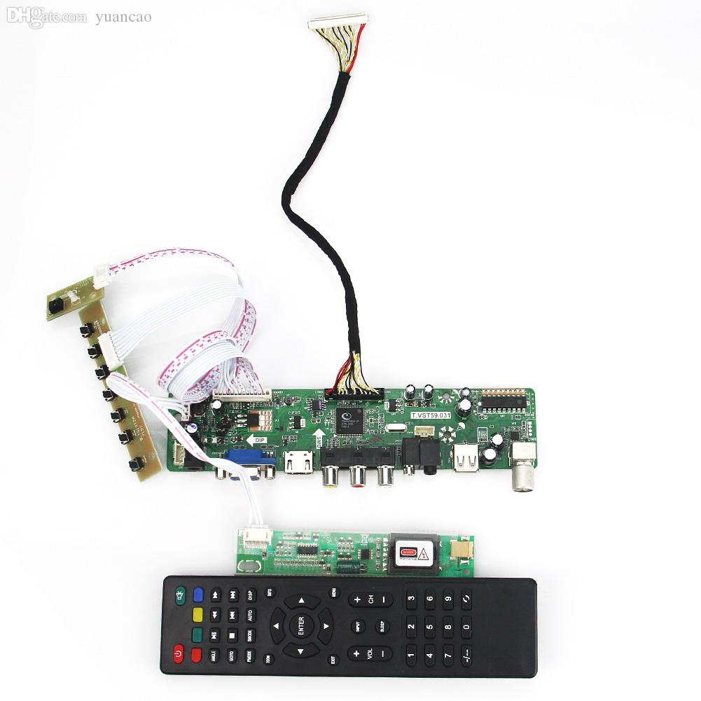 07654e9f68f 2019 Wholesale T.VST59.03 LCD LED Controller Driver Board For LTN154X1 L02  LTN154AT01 TV+HDMI+VGA+CVBS+USB LVDS Reuse Laptop 1280x800 From Yuancao
