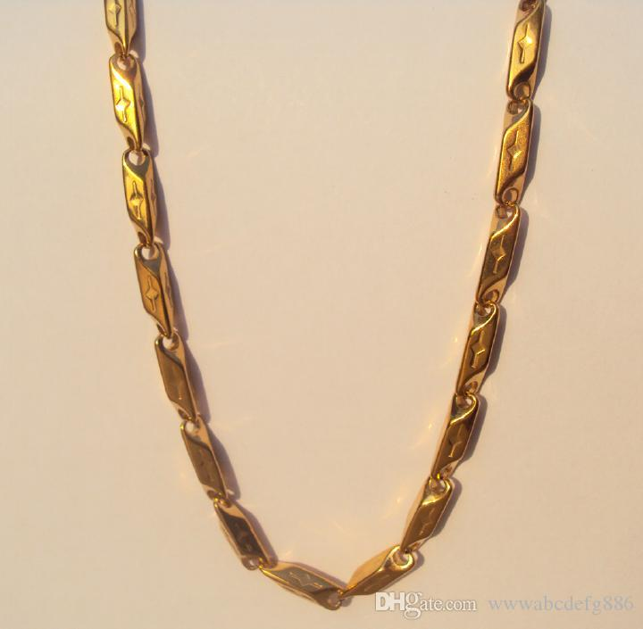 Mens Women Cuban Link Real Gold Franco Chain Torque Stainless ...