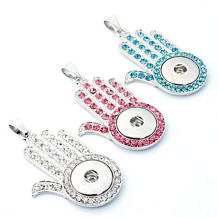 Новый DIY сплава кнопка высокое качество мода кулон ожерелье женская Оптовая коллокация партии ювелирные изделия стразы 22