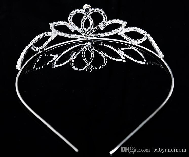 2016 12 adet Taç tiaras Noel yarışmasında prenses doğum günü düğün / parti yüksek kalite kristal gümüş tiara taç