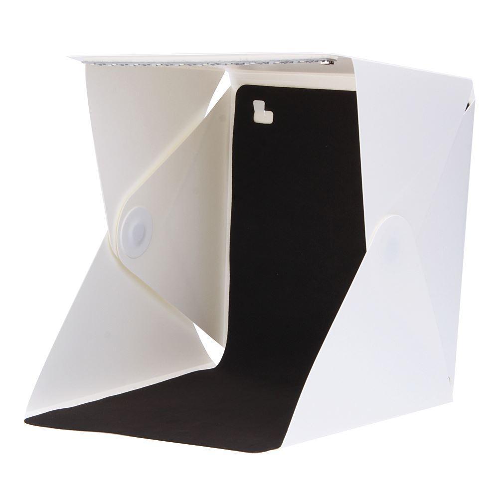 Freeshipping أحدث المحمولة البسيطة استوديو الصور مربع التصوير خلفية مدمجة في ضوء صورة مربع تصميم طوي