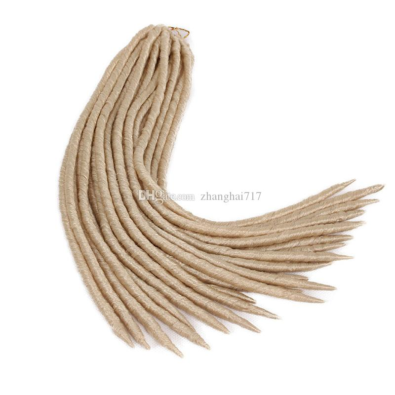 Crochet Faux locs 14inch 18inches 24strands Soft Dread Lock Hair Faux Locs Crochet Ombre Dreadlocks Hair Kanekalon goddess 6packs