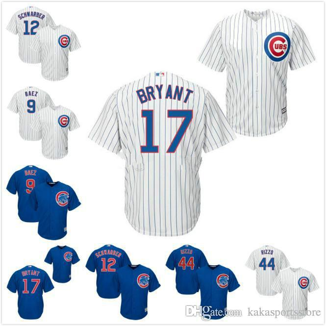 f4e18054acc ... order 2017 mens chicago cubs anthony rizzo 44 kris bryant 17 baseball  jersey majestic royal alternate