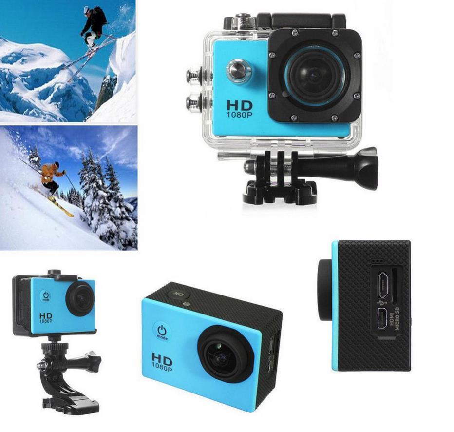 50PCS SJ4000 freestyle 120 degree 2-inch LCD 1080P Full HD HDMI action camera 30 meters waterproof DV camera sports helmet SJcam DVR00