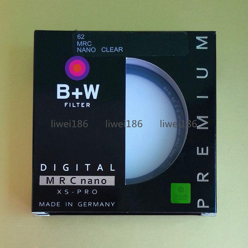 B+W UV Filter 62mm XS-PRO MRC Nano Ultraviolet Haze Protective Multi-Resistant Coating MRC 010M Filtro MC-UV 62 mm Made in Germany