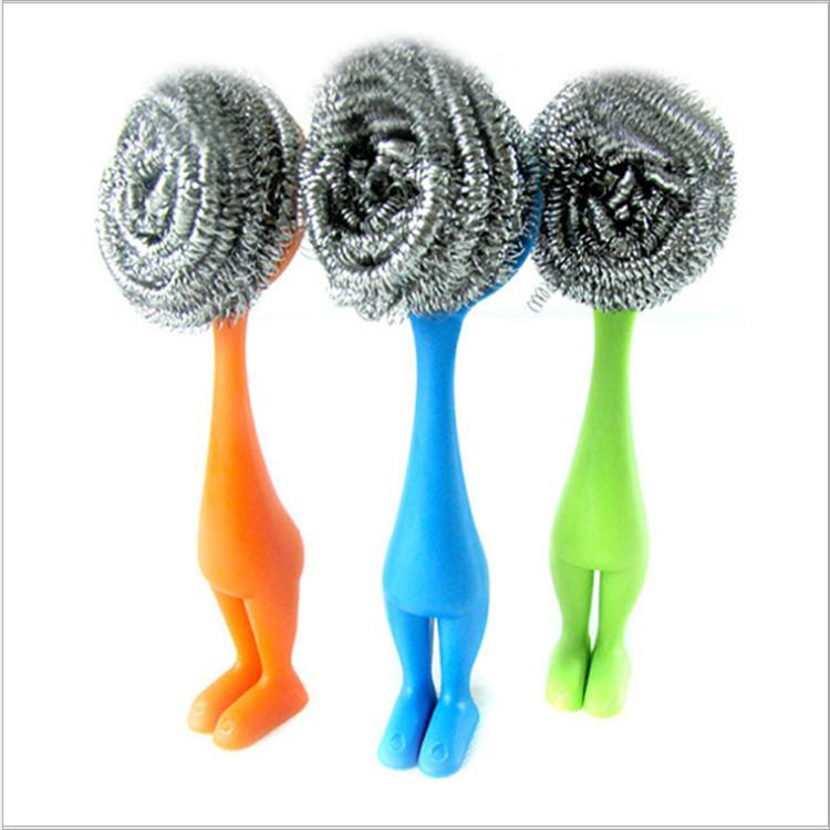 2018 2016 New Creative Kitchen Brush Cleaning Tool Can Be Vertical Small  Kitchen Pot Brush Wire Ball Cleaning Brush From Nestorlong, $2.02 |  Dhgate.Com