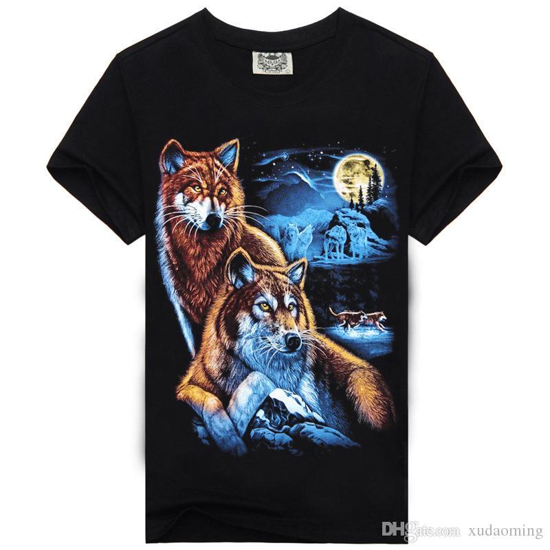 2016 Großhandelsgolf-Hemd-Tiermuster 3 d-Druck-Männer Abnutzungs-Männer T schade Knopf-T-Shirt T-Shirts T-Shirts Marken-Mode führte Poloshirt