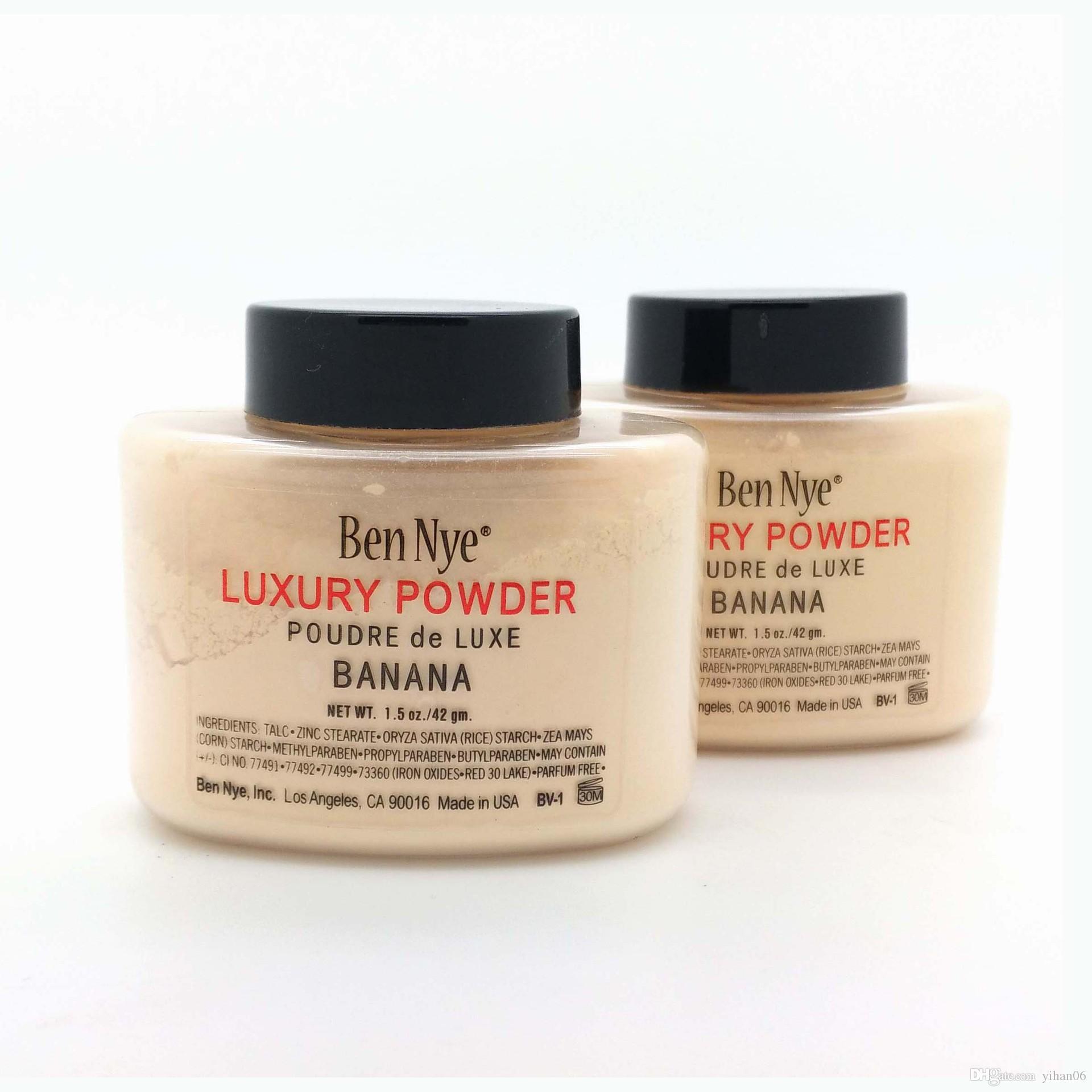 Poudres de luxe Ben Nye Poudre de luxe Banane 1.5oz New Natural Face Poudre Libre Étanche Nutritive Banane Éclairer Durable