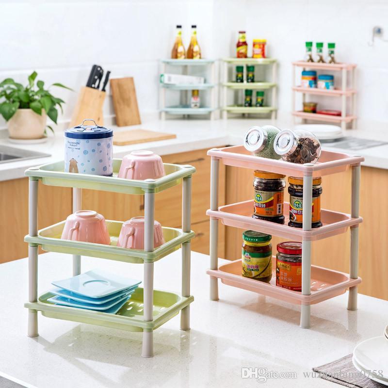 Großhandel Diy 3 Schichten Plastik Schreibtisch Lagerung Rack Make ...