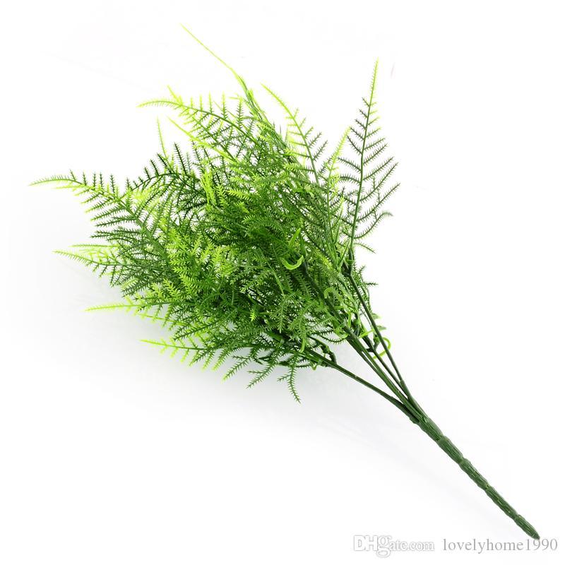 7 Niederlassungen Künstlicher Spargelfarn Graspflanze Blumenzubehör