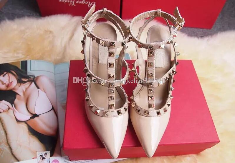 a07f555baca6f2 2017 Designer Women High Heels Party Fashion Rivets Girls Sexy ...
