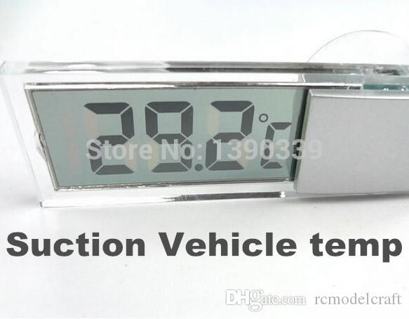 Suction Vehicle Windscreen LCD display Digital Car Auto Temperature indoor portable household mini suck temp Thermometer