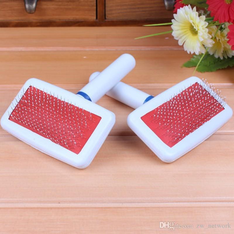 Красный Щенок Щетка Для Волос Кошка Собака Уход Pet Gilling Brush Soft Slicker Гребень Для Собак Quick Clean Tool Pet Cepillo Perro 77