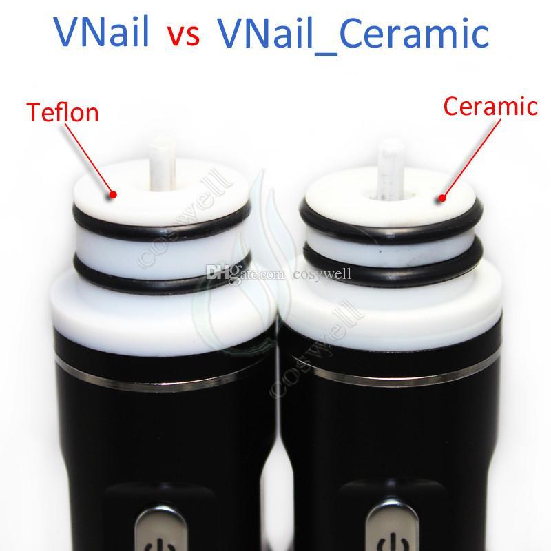 Ceramic VNail portable Kits Dry Herb Wax herbal vaporizer dab Titanium chamber dabber Coil 18650 battery ecigs glass bongs bong Vape Nail