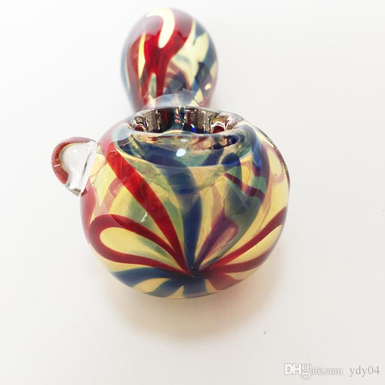 Mini glass pipes colorful hand pipe for smoking mini oil rigs glass glass tobacco pipe about 7.5cm in Length