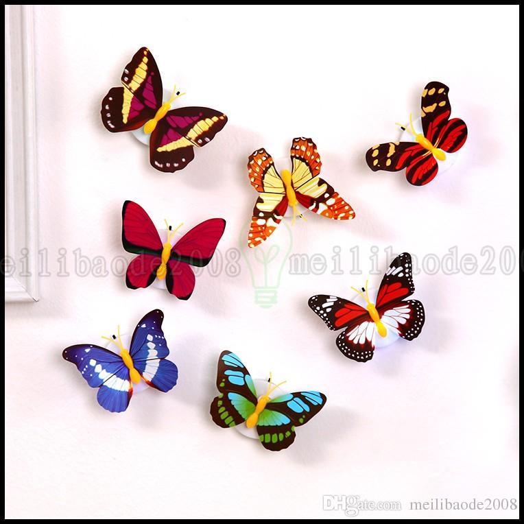 Творчество вклейшенная красочная бабочка ночной свет светодиодный энергосберегающий декоративный ребенок спальня прикроватная лампа освещения