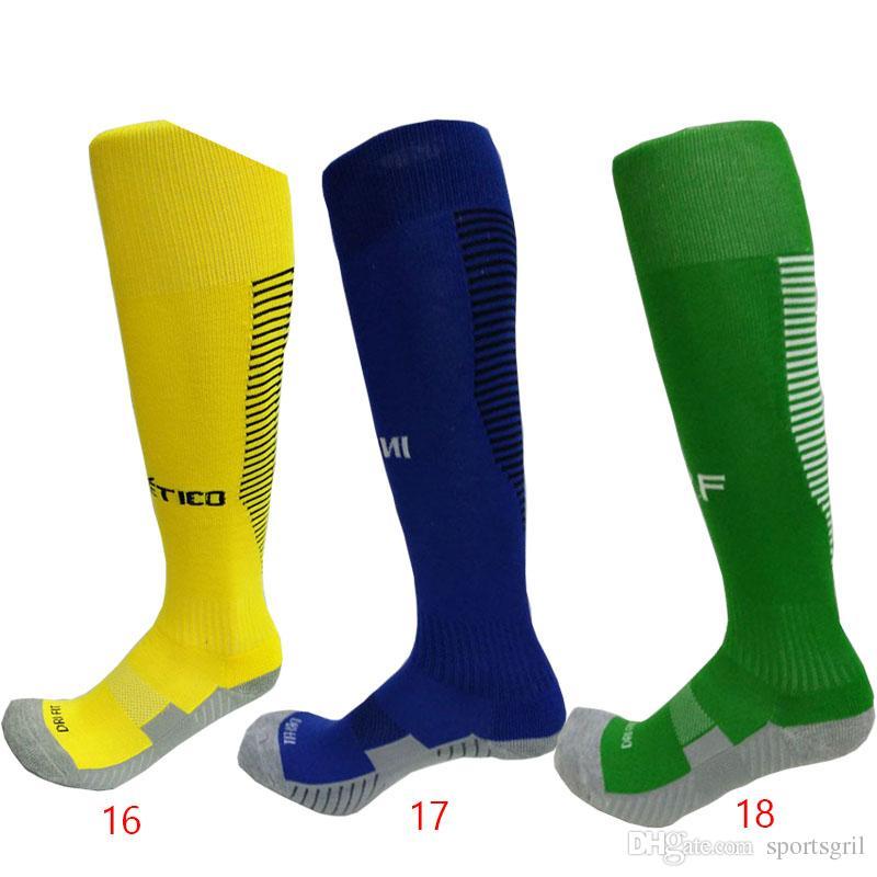 Calze da calcio alte da uomo, traspirante, da calcio, fondo spugna, resistente all'abrasione, da calcio, da calcio, da uomo, calze elite