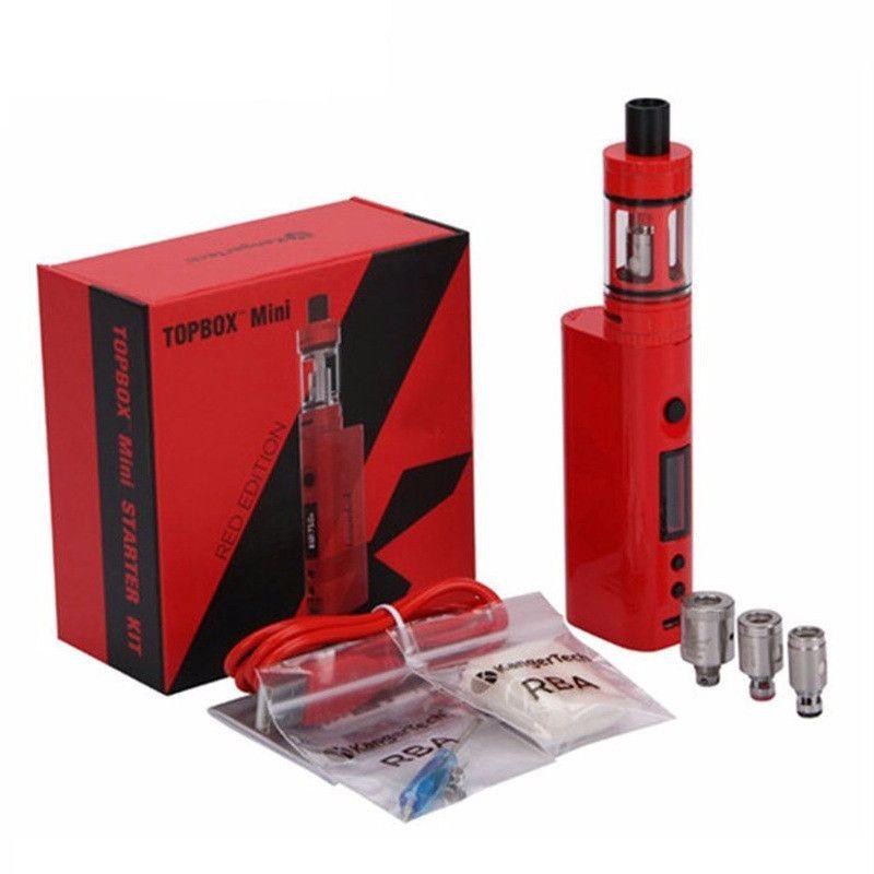 Top quality Kanger Topbox Mini 75W TC Starter Kit Kangertech KBOX Mini Box Mod Toptank pro SSOCC Atomizers Vapor mods subox nano DHL EC022