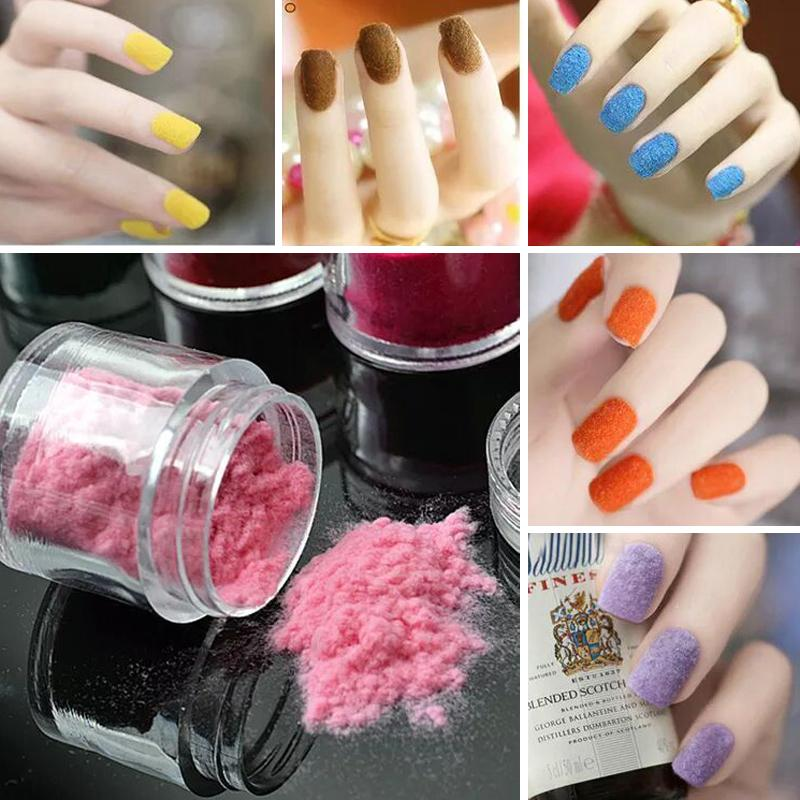 Wholesale 3d Candy Nail Glitter Fashion Nail Decoration Fuzzy ...