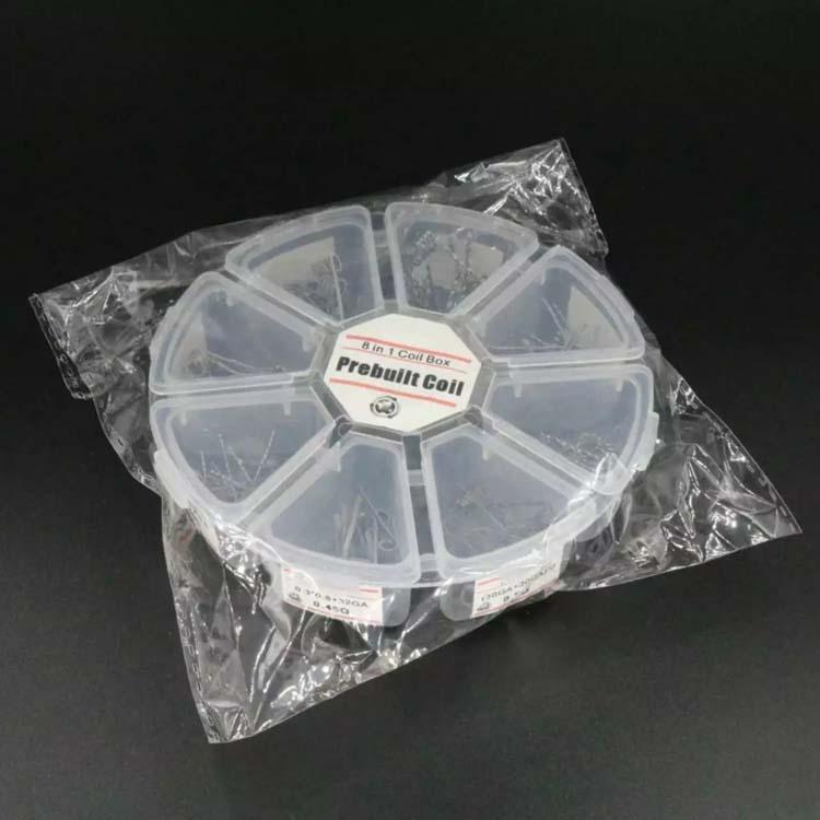 Vorgefertigte Spulen Alien Fused Clapton Flat Mix Twisted Hive Quad Tiger 8 in 1 Heizwiderstand Wickeldrähte Mods RDA vorgefertigte Spule