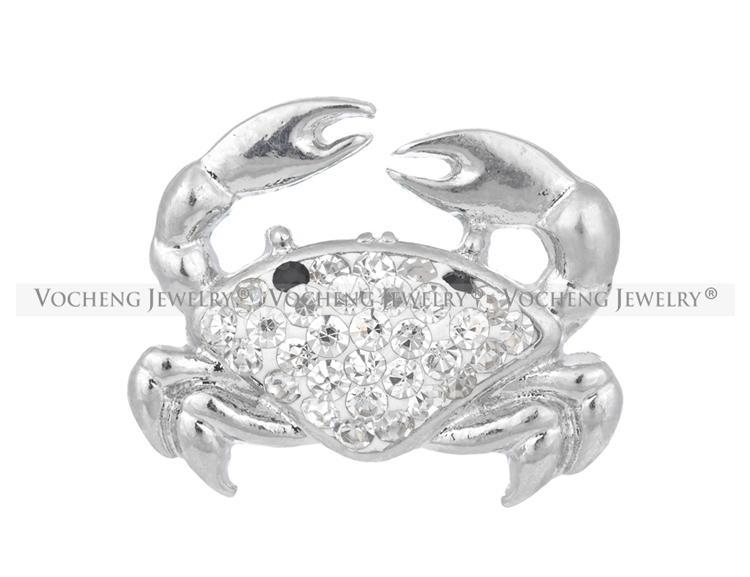 NOOSA Ginger Snap Crystal Nautical Crab Button VOCHENG Vn-1055